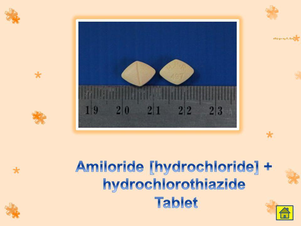 Amiloride [hydrochloride] + hydrochlorothiazide Tablet